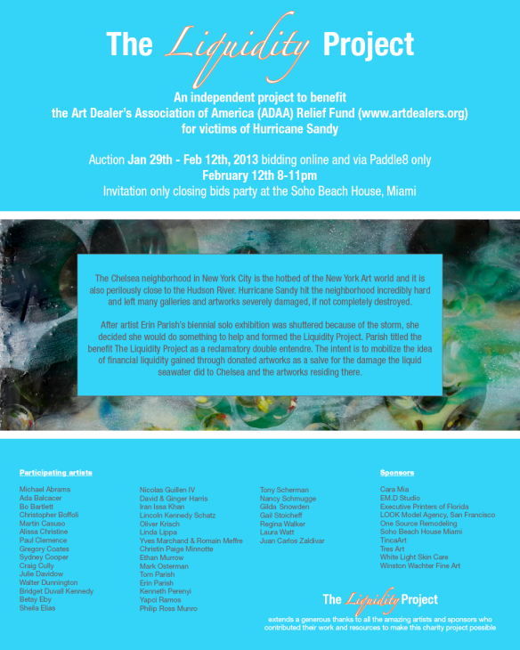 Liquidity Project art auction on Paddle8