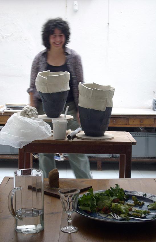 Elke Sada at her summer studio in Paris
