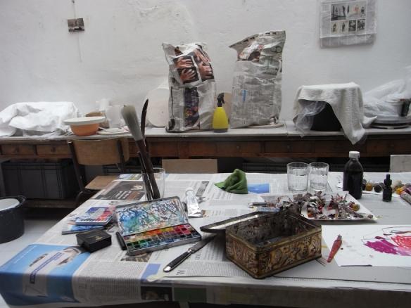 Elke Sada's summer studio in Paris