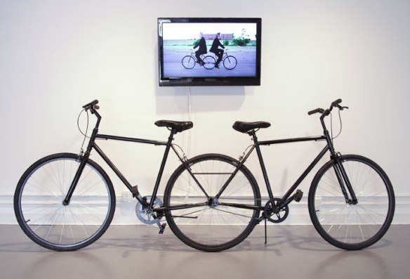 Pushmi-Pullyu: The Collaborative Cycle // 2013 // Dimensions variable // welded customized bicycles and video