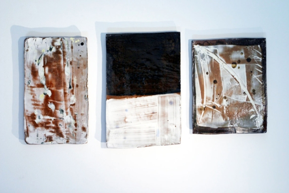 HunChung Lee  // Drawings // 2004 // 19 x 14 inches each // Glazed ceramic