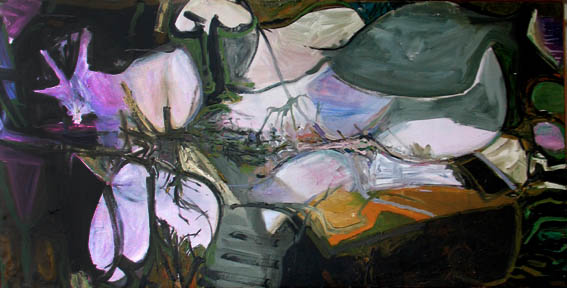 William Pachner // Tragic Theme // 1962 // 33 x 70 inches // Oil on canvas