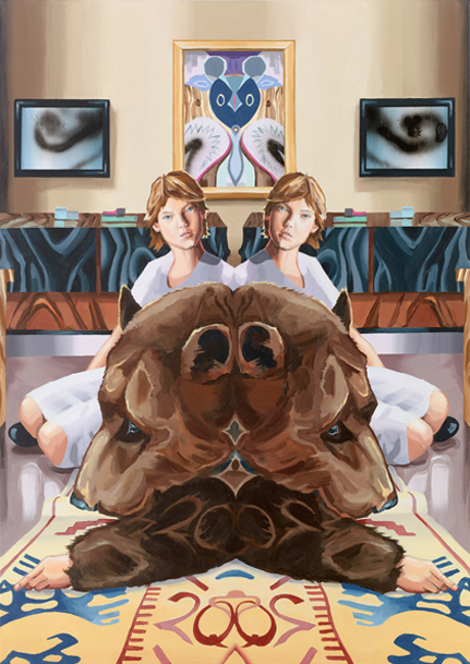 Christopher Winter // Speculative Realism (and the Cubist Rabbit) // 2013 // Acryl-Leinwand // 150 x 180 cm