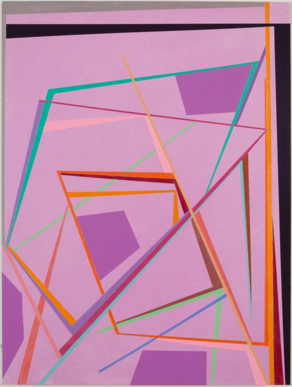 Gary Petersen // Untitled (purple) // 2010 // 16 x 12 inches // Acrylic and oil on masonite panel