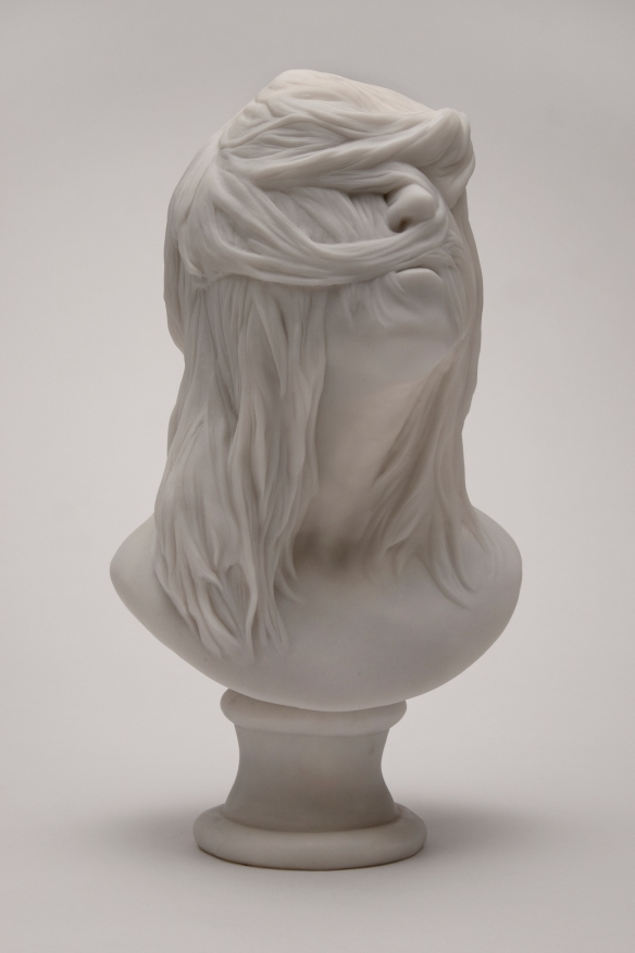Christina West // Untitled Bust // 2014 // 17 x 9 x 9 inches // Cast marble