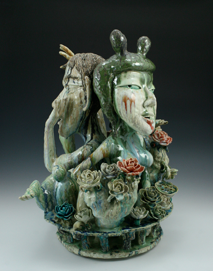 "Sunkoo Yuh // I want to know you better/ WOR // 2011 // 27 x 24 x 17"" // Porcelain, Glazed, cone 10"
