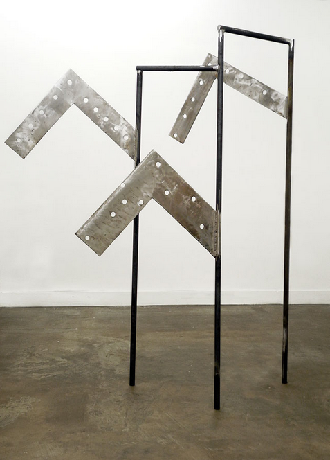 Dominique Labauvie // The City Beat // 2014 // 81 x 60 x 31 inches // Forged steel