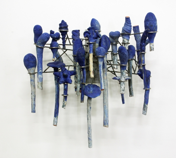 David Hicks // Arrangement (Cold Harvest) // 2014 // Ceramic and steel