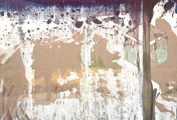 Fire Singuisher Paint Peeling Off the Wall 2014 mixed media on canvas 144 x 95