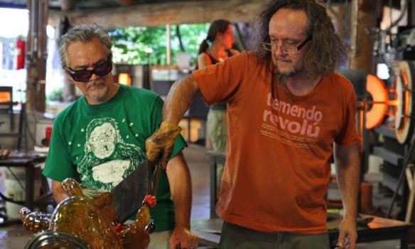 Collaborating artists-brothers Einar and Jamex de la Torre were born in Guadalajara, México.