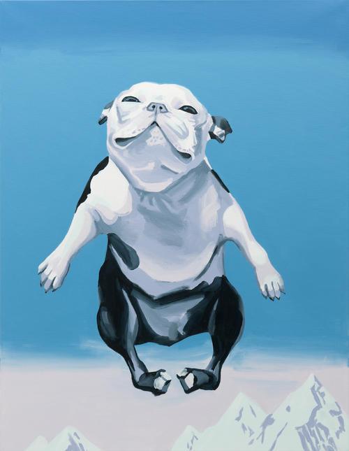 Christopher Winter // Dog Days // 2011 // 130 x 100 cm // Acrylic on canvas