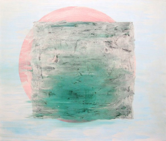 Osamu Kobayashi // Hazy Block 60 x 70 inches oil on canvas