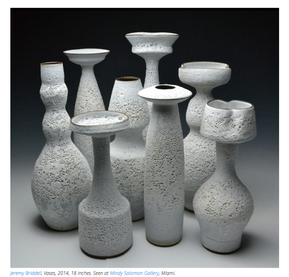 Jeremy Briddell - Ceramics - Mindy Solomon Gallery