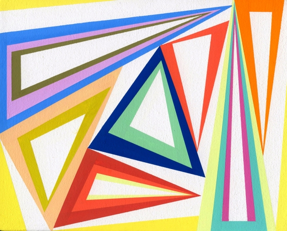 Gary Petersen // Untitled B-G 3 2011 // 10 x 8 inches //  Gouache on canvas