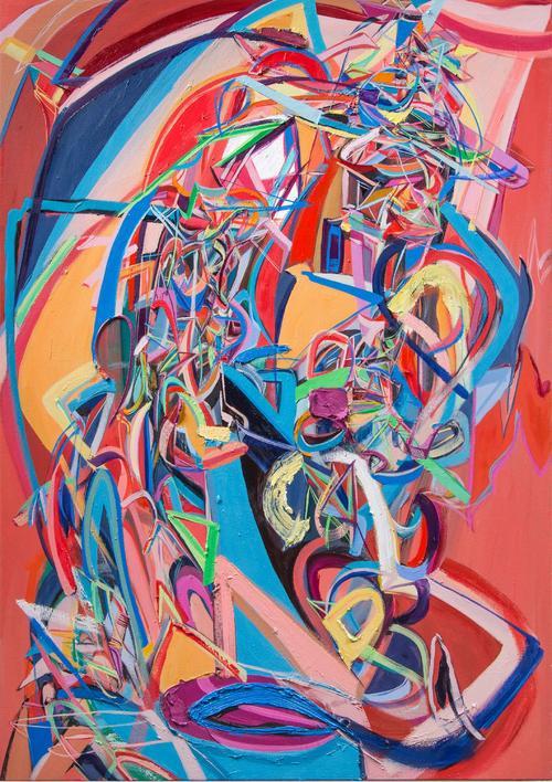 Ali Smith // Bone Shaker, 2013, 60 x 42 inches, Oil on canvas