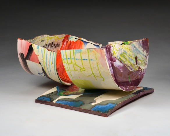 Lauren Mabry // Contain or Deliver 2016 11 x 19 x 18 inches earthenware, slips, glaze