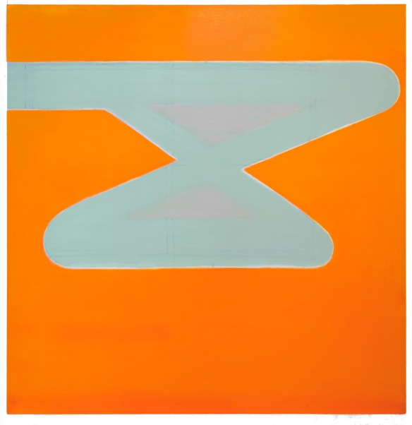 Untitled Green In Organge 2012-2013 76 x 74 inches Oil on linen