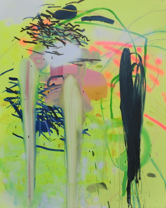 Jennifer Lefort // Traces  2016 60 x 48 inches oil and spray paint on canvas