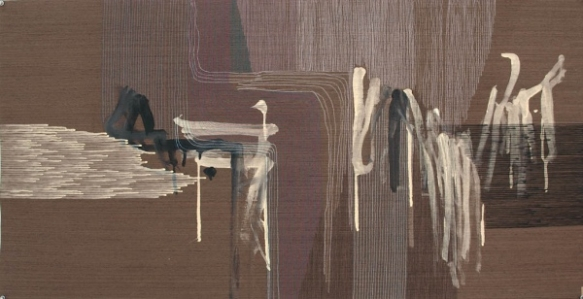Ernesto Garcia Sanchez // Untitled Nr. 3 2016, 25 x 49 inches, Acrylic and graphite on wood